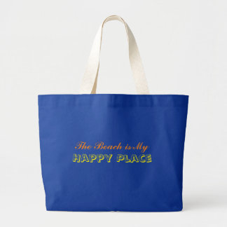 The Beach is My Happy Place Jumbo Tote