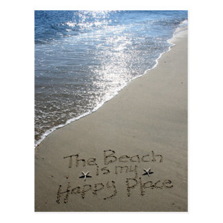 The Beach is my Happy Place Post Card