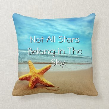 Beach Themed The Beach is my Happy Place Starfish Pillow
