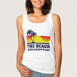 The Beach Is My Happy Place Tank Top
