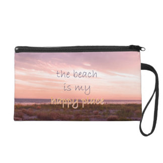 The Beach is My Happy Place Wristlet Purse