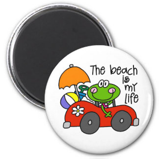 The Beach Is My Life Magnets