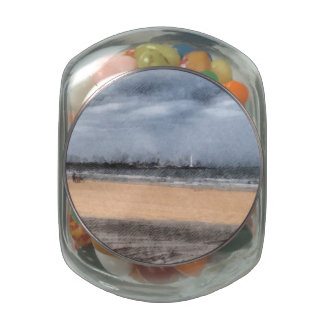 The beach jelly belly candy jars