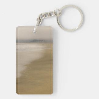 The Beach Rectangular Acrylic Key Chains