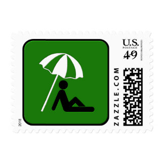 The Beach Postage Stamp