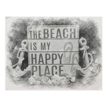 Beach Themed The Beach Postcard