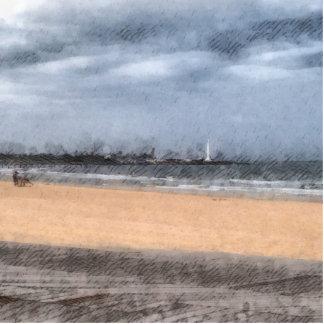 The beach statuette