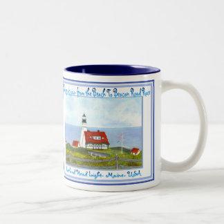 The BEACH TO BEACON Road Race Maine USA Two-Tone Coffee Mug