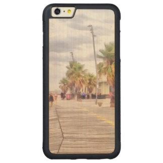 The beachfront carved maple iPhone 6 plus bumper case