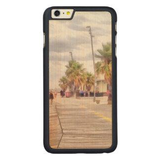 The beachfront carved maple iPhone 6 plus slim case