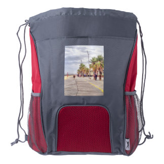 The beachfront drawstring backpack
