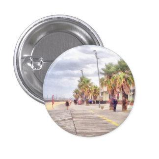 The beachfront pinback button
