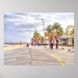 The beachfront poster