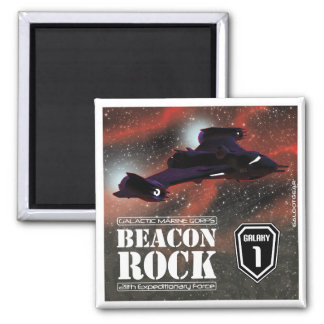 The Beacon Rock 2 Inch Square Magnet