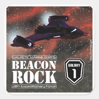 The Beacon Rock Square Stickers