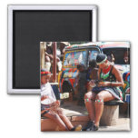 The Bead Workers 2 Inch Square Magnet