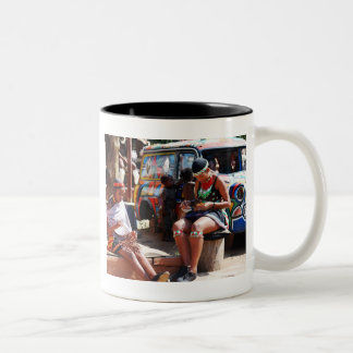 The Bead Workers Two-Tone Coffee Mug