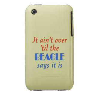 The Beagle Says (Beige Background) iPhone 3 Case