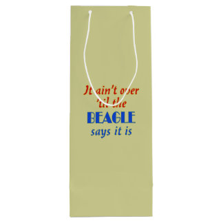 The Beagle Says (Beige Background) Wine Gift Bag