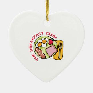 THE BEAKFAST CLUB Double-Sided HEART CERAMIC CHRISTMAS ORNAMENT