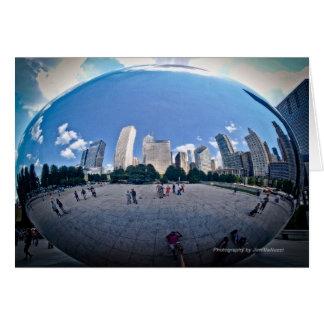 """The Bean"" - Millennium Park in Chicago Card"