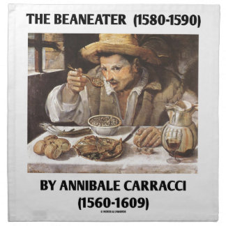 The Beaneater (1580-1590) By Annibale Carracci Cloth Napkin