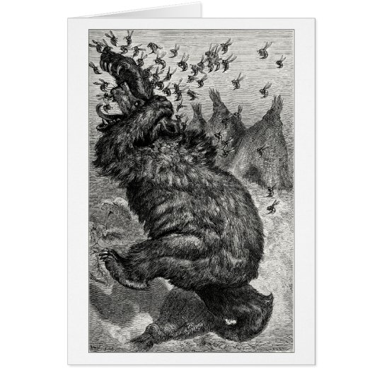 The bear and the behive card