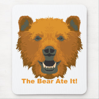 The Bear Ate It! Mouse Pad