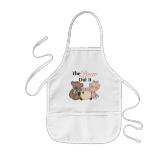 The Bear Did It Funny Baby Apron