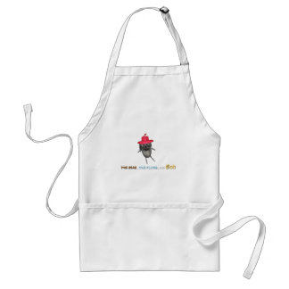 The Bear dying of old age without beard Apron