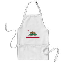 The Bear Flag - Flag of the State of California Adult Apron
