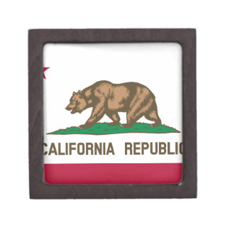 The Bear Flag - Flag of the State of California Jewelry Box