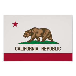 The Bear Flag - State of California Poster