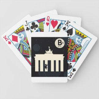 The bear on Berlin - Brandenburger gate Bicycle Poker Cards