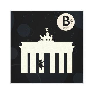 The bear on Berlin - canvas 40x40cm