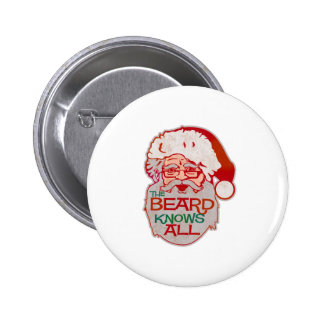the beard knows all 2 inch round button