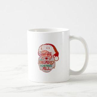 the beard knows all coffee mug