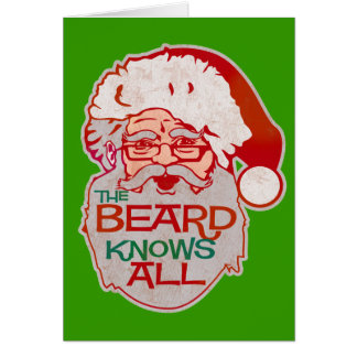 the beard knows all greeting card