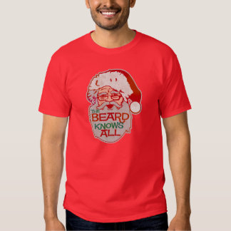 the beard knows all tee shirts