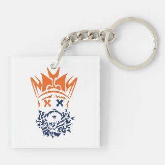 The Bearded King Keychain- Broncos Keychain