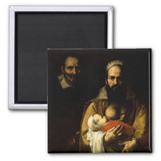 The Bearded Woman Breastfeeding, 1631 2 Inch Square Magnet