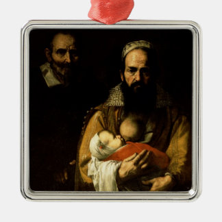 The Bearded Woman Breastfeeding, 1631 Metal Ornament