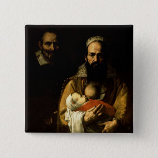 The Bearded Woman Breastfeeding, 1631 Pinback Button