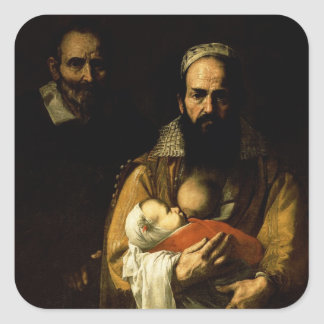 The Bearded Woman Breastfeeding, 1631 Square Sticker