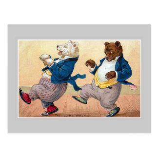 """The Bears' Cakewalk"" Postcard"