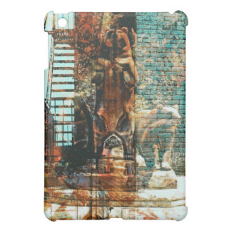The bears' stands Brown/cyan iPad Mini Cover