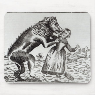 The Beast of Gevaudan Attacking a Young Girl Mouse Pad