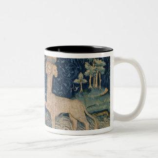 The Beast of the Sea with Seven Heads Two-Tone Coffee Mug