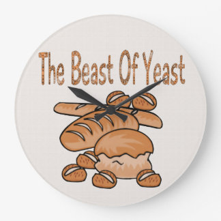 The Beast of Yeast Large Clock