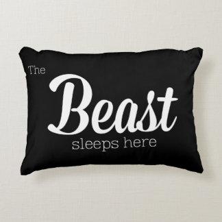 The Beast Sleeps Here Accent Cushion